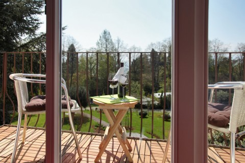 Balkon Vom Hotel Lindenallee In Lindau