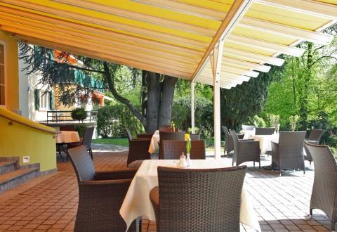 Terasse vom Hotel Lindenallee am Bodensee